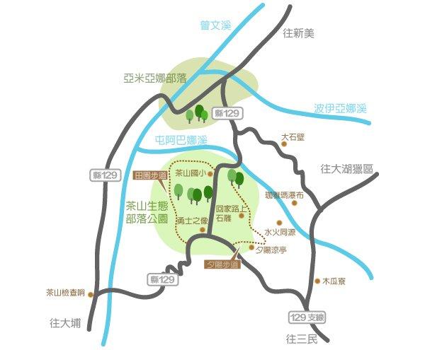珈雅瑪 茶山 路線圖